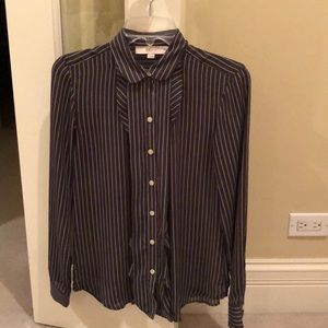 Loft pinstriped blouse